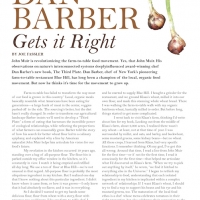 Dan Barber Magazine Layout